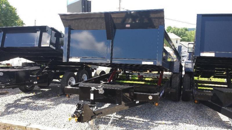 2015 Sure-Trac 7x14 low profile 14k Dump Trailer -ramps -AC charger