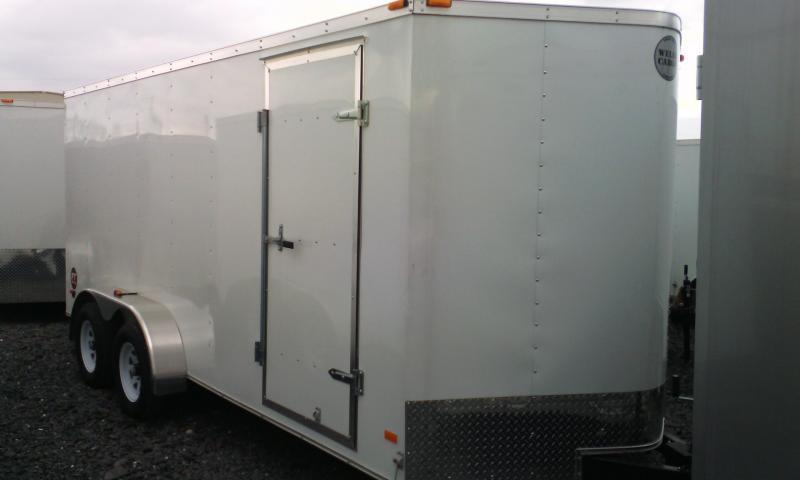 2015 Wells Cargo 7x16 Fast Trac -ramp -white Cargo / Enclosed Trailer