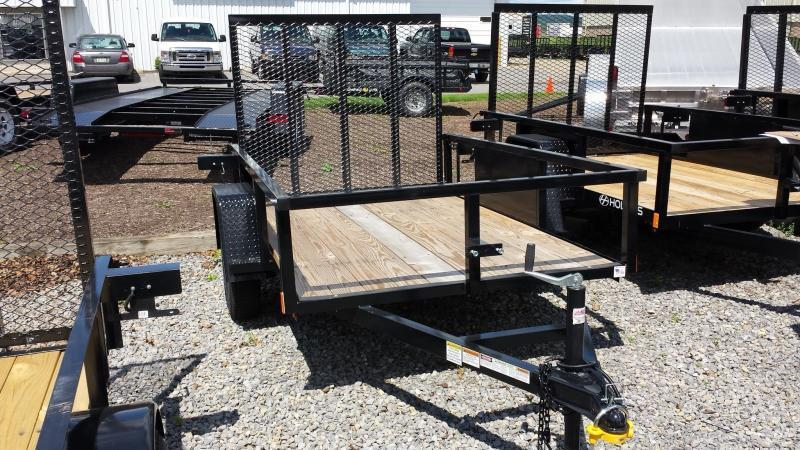 2018 Holmes 5x8 Commercial Open Rail Utility Trailer
