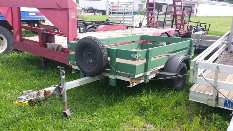 2001 Worthington Trailers 4x8 Aluminum Tilt Bed Utility Trailer