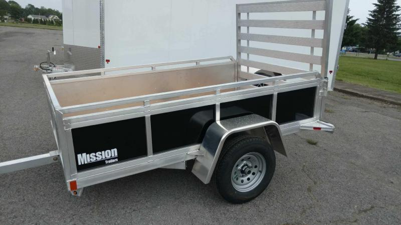 2018 Mission 5x8 Solid Side Aluminum Utility Trailer