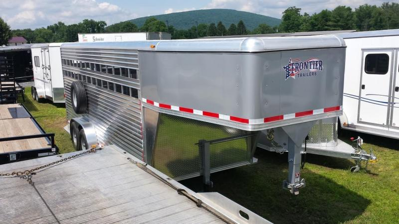 2015 Closeout! Save $500 -  Frontier Aluminum Trailers 20ft Gooseneck Livestock Series Trailer