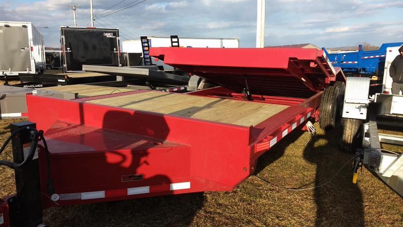 2019 Midsota 7x18+4 15.4K tilt deck wide body Equipment Trailer
