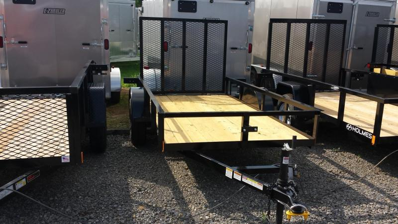 2014 Holmes residential series 5x10 utility trailer - open rails - 3.5k - LED