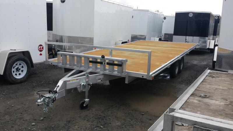 2016 Worthington Trailers 8x18 Aluminum Deckover 4 Place ATV Trailer