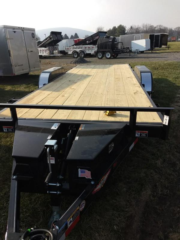 2019 H and H Trailer 7x20 10K power tilt deck Car / Racing Trailer