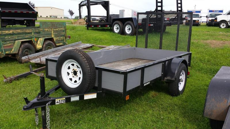 2009 Belmont Machine 5x10 with wood sides and spare Utility Trailer