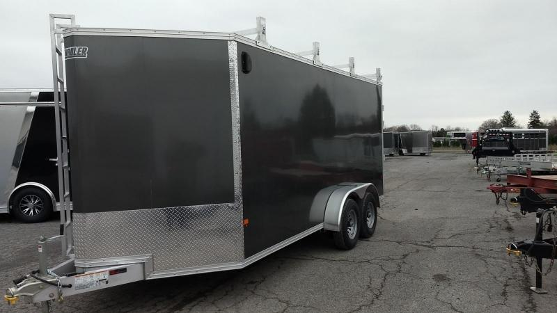 2019 Mission 7x16 10K all aluminum Enclosed Contractor Trailer