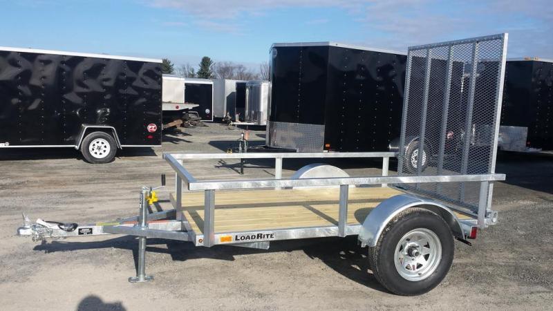 2016 Load Rite 5x8 Open Side Galvanized Utility Trailer