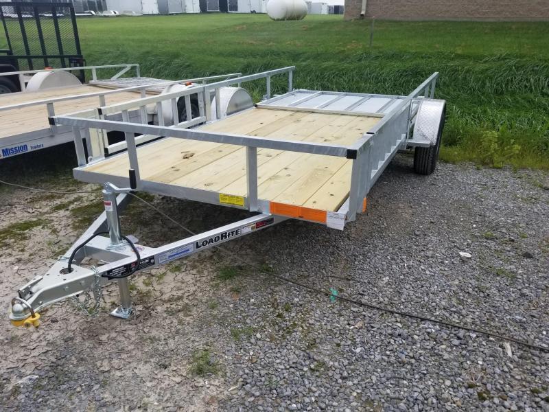 2019 Load Rite 6-5x14 Galvanized Open Side Rail w/ ATV Ramps