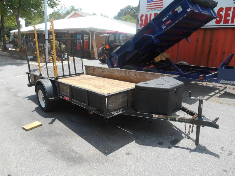 "Used 2016 Landscape 76""x12 W/Weed Eater Rack"