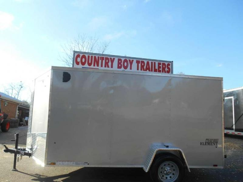 New 2017 Look Trailers EWLC6X12S12 - WHITE