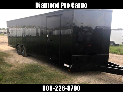 2018 Diamond Cargo 8.5x20 BLACK DEFENDER Enclosed Cargo Trailer