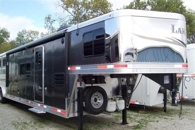 2014 Lakota Trailers 8415 Charger w/15 LQ sofa & dinette w/ slide Horse Trailer