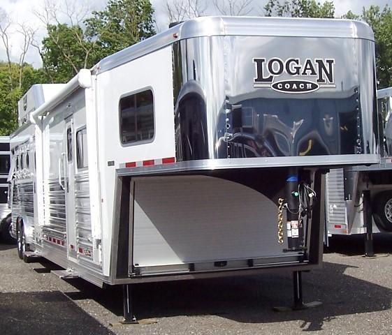 2017 Logan Coach Razor 812 full Midtack Horse Trailer
