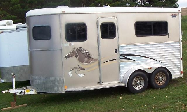 2006 American Spirit Warmblood w/mangers and walk thru door Horse Trailer