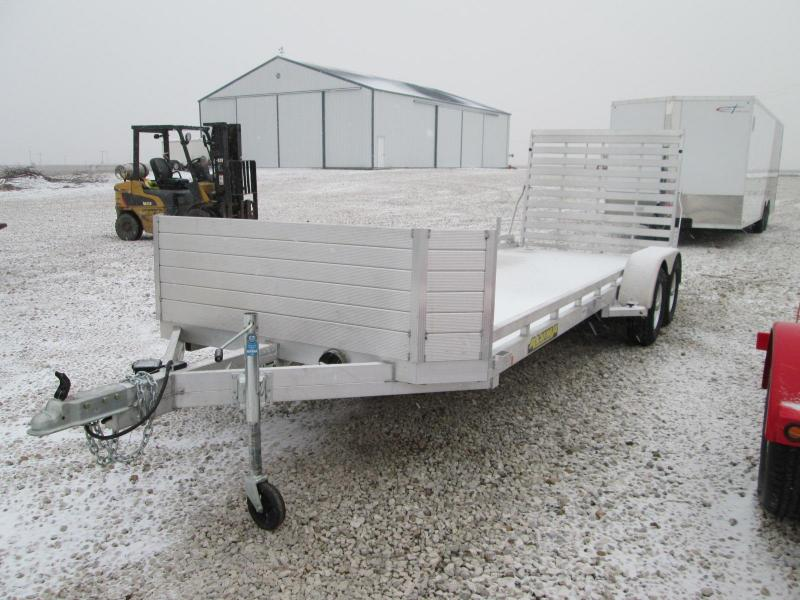 2019 Aluma 7820 78 x 20' Bed W/Tailgate and Front Rock Guar Utility Trailer
