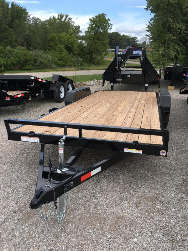 2018 Sure-Trac 7 X 20 Wood Deck Car Hauler 7k