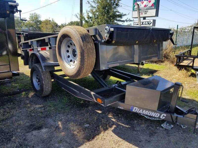 Diamond C 43ED 5 x 10 Dump Trailer Single Axle with Tarp