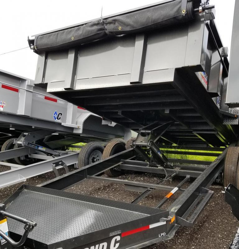 Diamond C Trailers LPD 82''X14' Dump Trailer Landscape Hauling