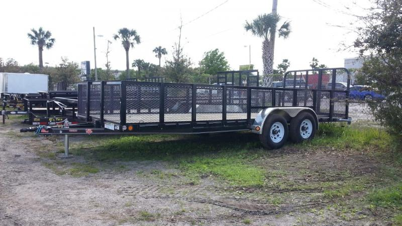 PJ Trailers 83 in. Tandem Axle Channel Utility (UL) Utility Trailer