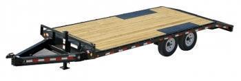 PJ 24' I- Beam deckover flatbed trailer