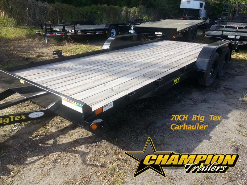 Big Tex 70CH 18' Carhauler Slide in Ramps Race Car