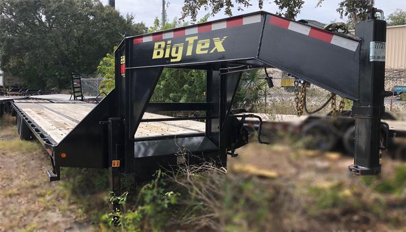 USED Big Tex Trailers Gooseneck Tandem Dual Equipment Hauler Trailer  Gooseneck Trailer 35'