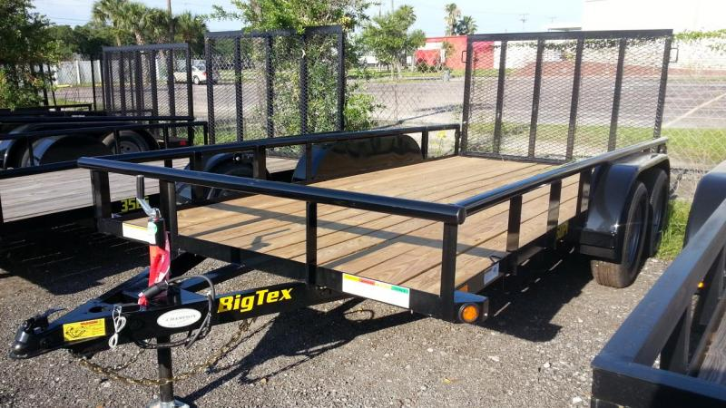 "Big Tex 77""x14' Utility Trailer Open Utility Lawncare"