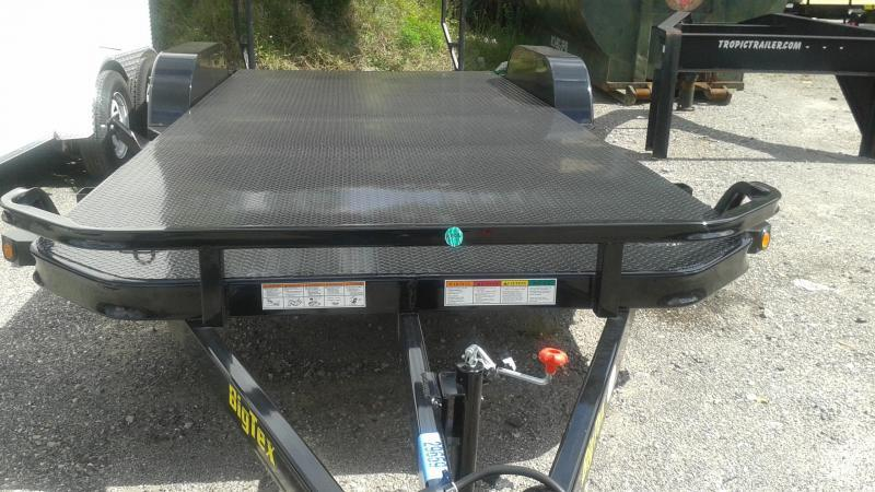 Big Tex Trailers 70DM-20BK 2EB Diamond Plate Carhualer Racing