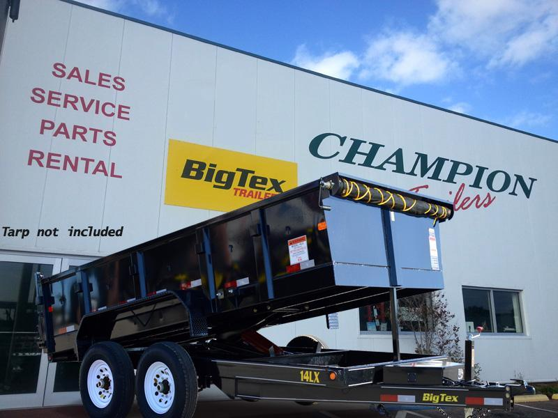 Big Tex Trailers 14lx Dump Trailer with Ramps