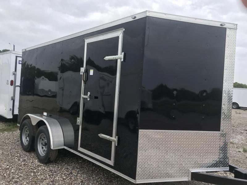 "2018 Texas Select 7x14 2 v nose 6'3"" interior Enclosed Cargo Trailer"