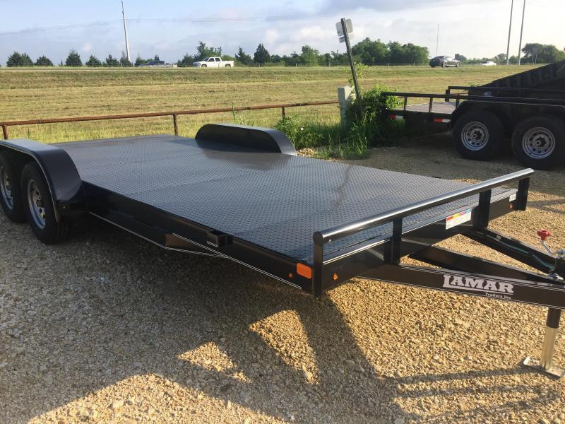 Lamar Trailers Car hauler 83x20 Steel Floor POWDER COATED Equipment Trailer
