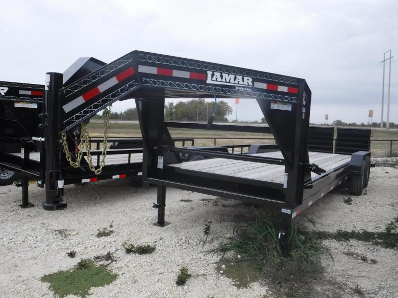 2018 Lamar Trailers 83x24 goosenceck with Monster rhino ramps Equipment Trailer