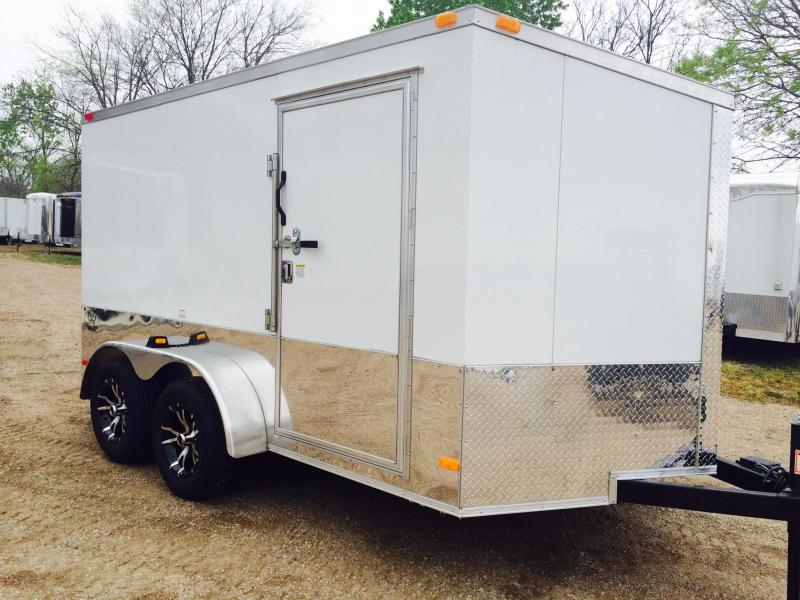 2015 7x12ta Covered Wagon Trailers Slant Nose Motorcycle Trailer