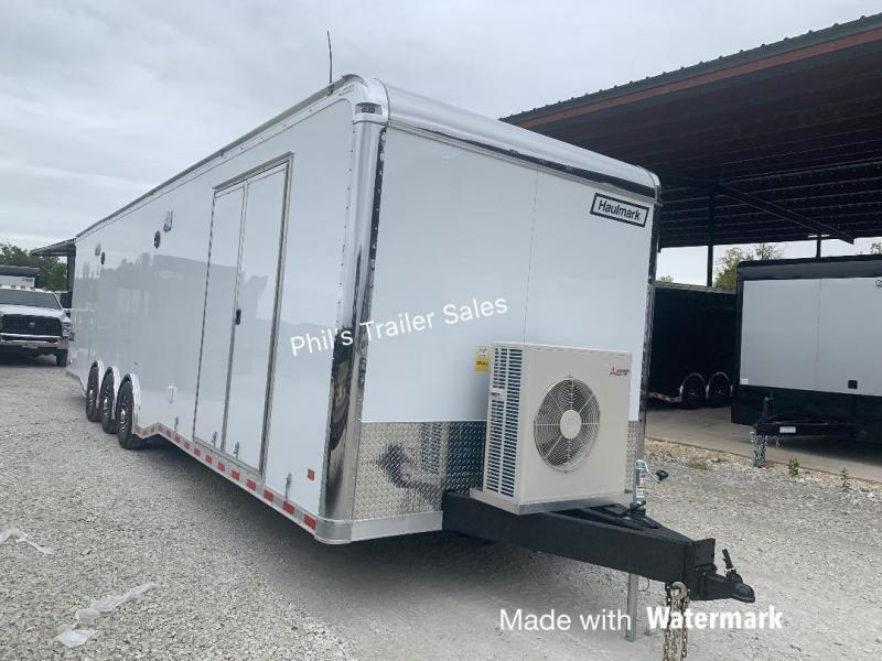 2 TON MINI SPLIT Glass Doors 34' Haulmark EDGE PRO Car / Racing Trailer