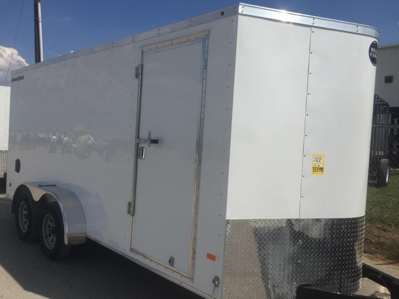 2018 Wells Cargo 7x16 + v 7' interior ht Enclosed trailer* Fast Track Cargo / Enclosed Trailer