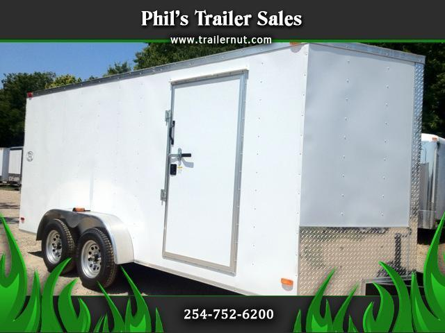 2015 Covered Wagon Cargo Trailer 7x16 Ramp 6 ft 6 in