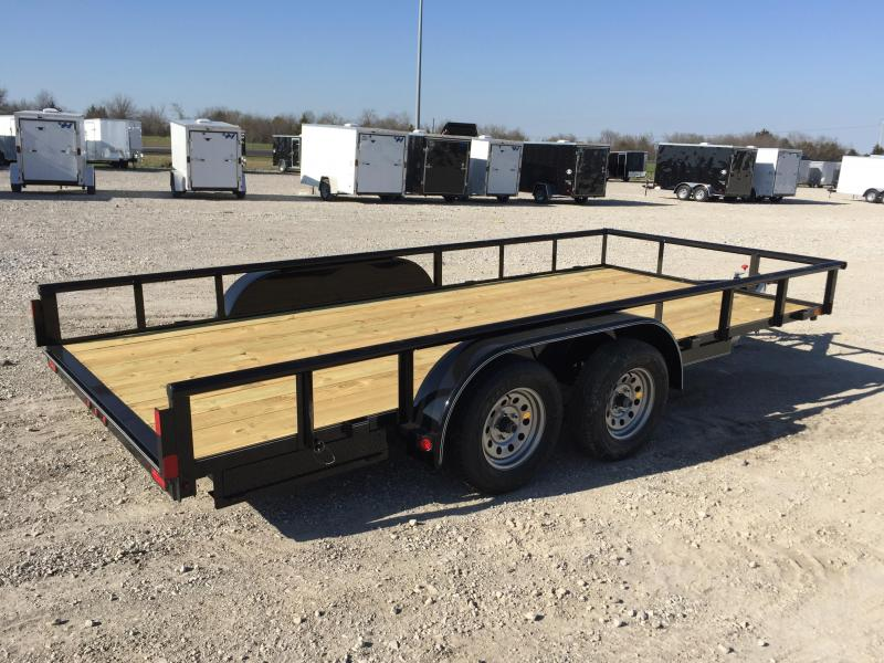 Lamar Trailers UT 83x16 Utility Trailer PIPE TOP LED POWDER COATED