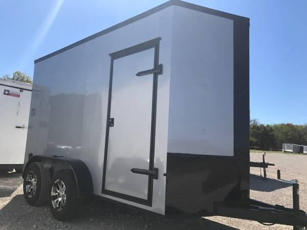 2018 Texas Select 6X12TA V NOSE RAMP DOOR ALUMINUM WHEELS Enclosed Cargo Trailer