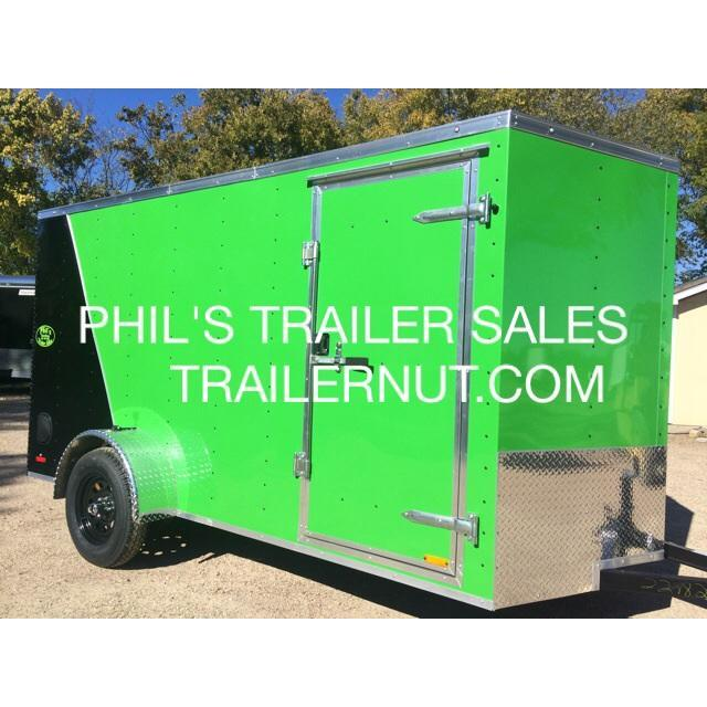 2015 6x12sa MONSTER Green / Black Cargo / Enclosed Trailer