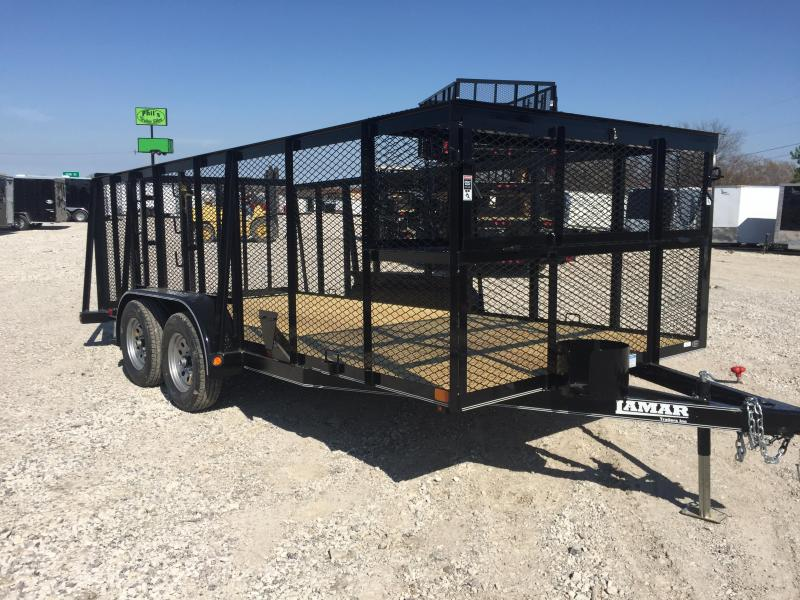 2018 Lamar Trailers 83x16 landscape trailer POWDER COATED Equipment Trailer