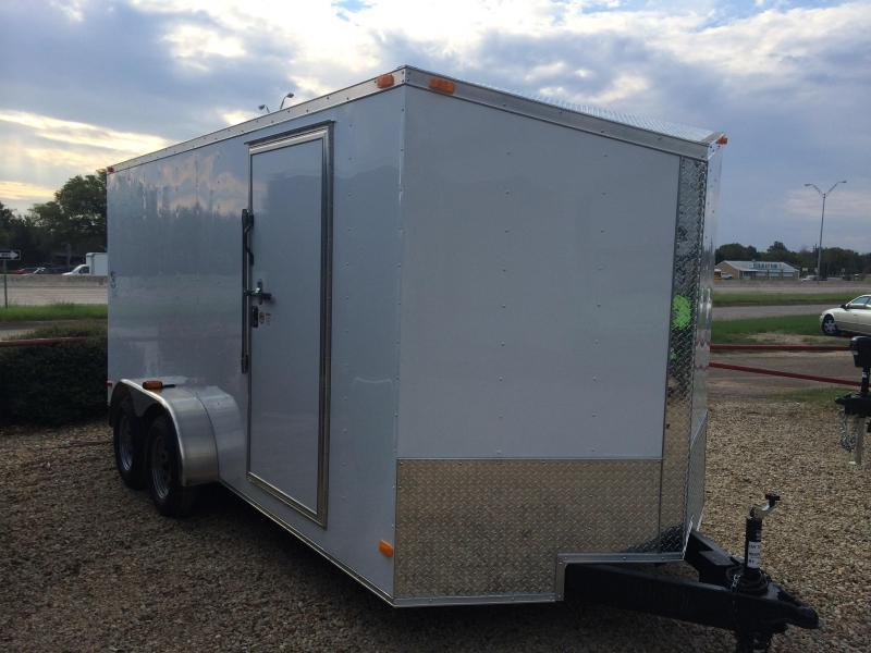 2015 Covered Wagon 7X16 + 2 V NOSE 7FT INTERIOR  Trailers SLANT V NOSE Cargo / Enclosed Trailer