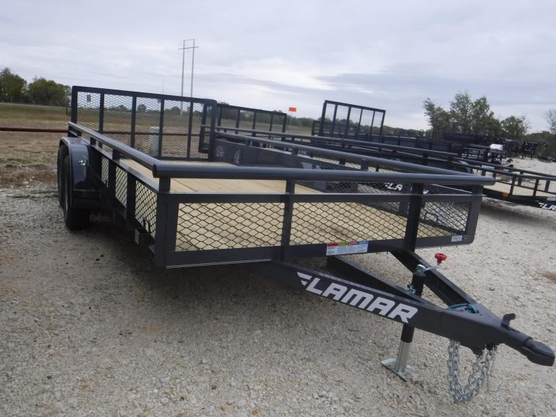 EXPANDED METAL SIDES Lamar Trailers UT 83x16 Utility Trailer POWDER COATED