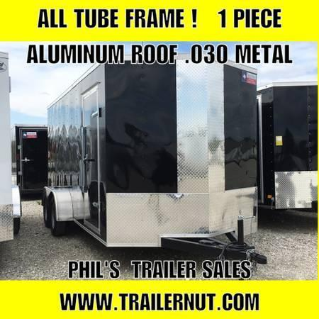 "2018 Texas Select 7x14 + 2 v 6'6"" Enclosed trailer Cargo / Enclosed Trailer"