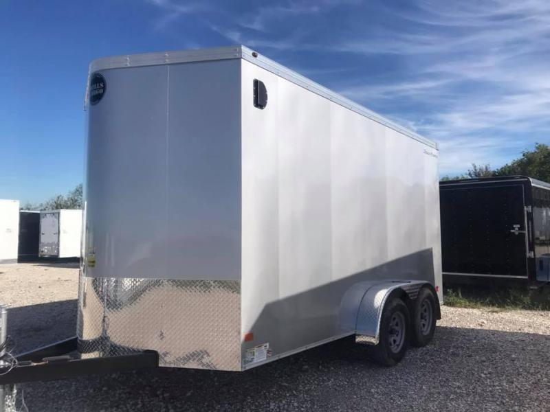 2019 Wells Cargo 7X14 + V 7 FT interior COMMERCIAL GRADE ROAD FORCE Enclosed Cargo Trailer
