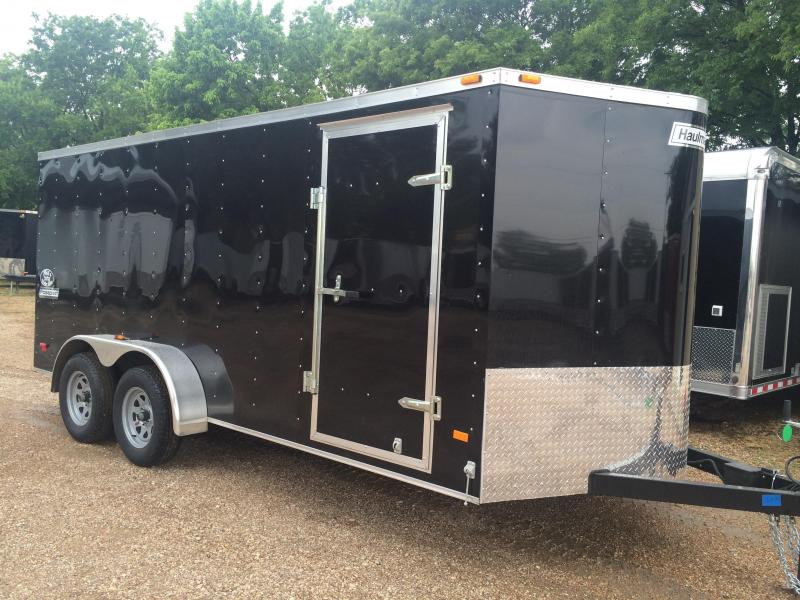 2015 Haulmark 7x16 extra ht ramp enclosed trailer / cargo trailer