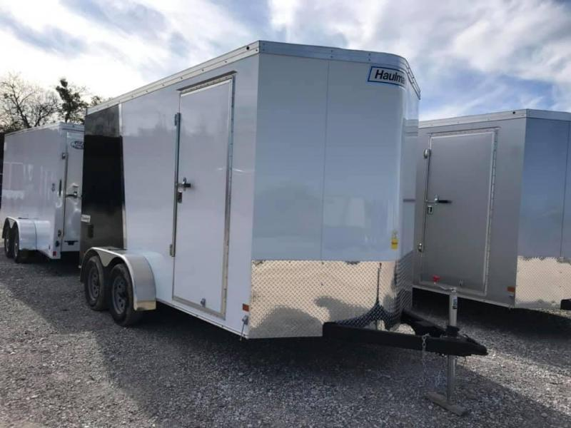 2019 Haulmark  7X14 + V 7 FT UTV PACKAGE interior COMMERCIAL GRADE ROAD FORCE Enclosed Cargo Trailer