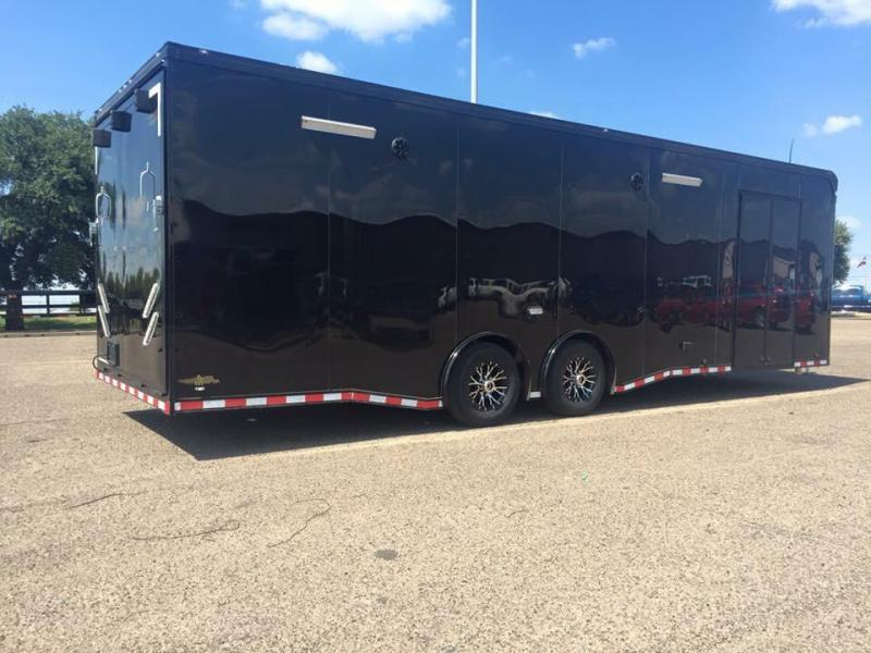 2017 continental trailers 28 black out loaded superstock car racing