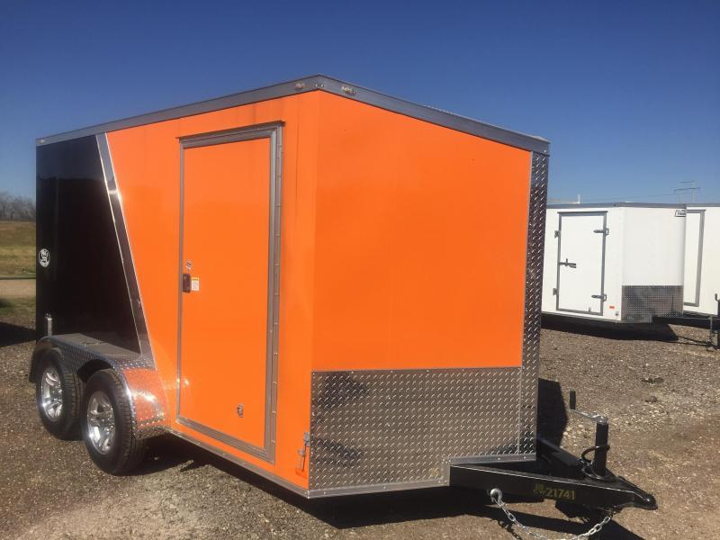 Covered Wagon Enclosed Trailer Black Orange Motorcycle Trailer